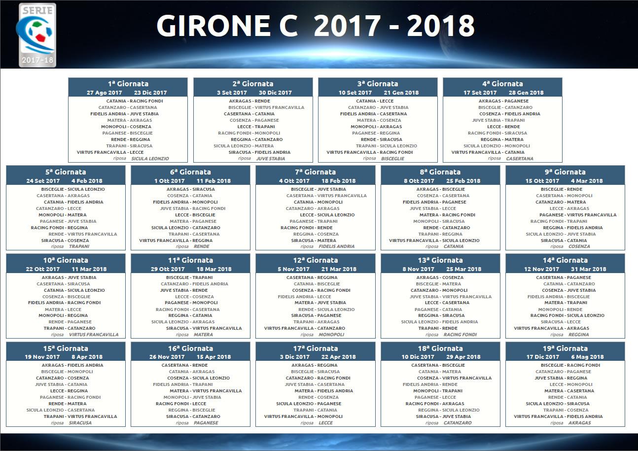 Lega Calcio, Calendario Girone C